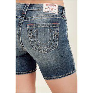 True Religion Women's Curvy Stretch Denim Shorts